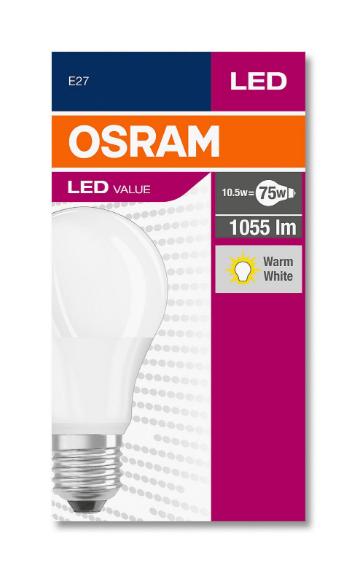 Osram Led CLA 75 10W 1055 Lümen Sarı Işık E27 Duy Ampul 10'Lu Paket