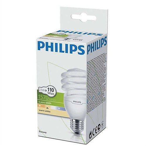 Philips Tasarruflu Twister 23W Sarı Işık Normal Duy 12 Li Paket