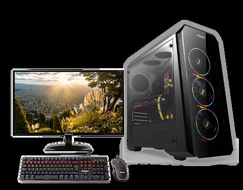 "Janus AMD Ryzen 5-3600 Ram 8Gb RGB, Disco 240GB, TV 2GB, Monitor 24"""