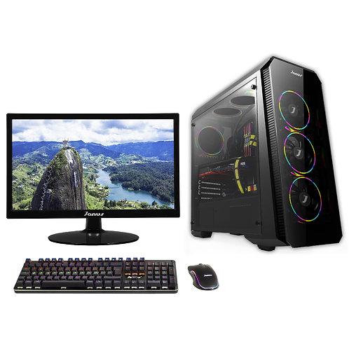 "Janus AMD Ryzen 5-3600 Ram 8Gb RGB, Disco 240GB, Monitor Janus 22"""
