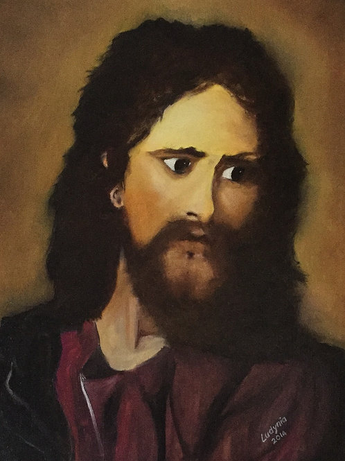JESUS CHRIST (11) original oil painting on stretched canvas