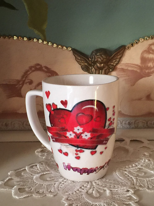 HAPPY KISS Decorated Coffee Mug Transfered Photo
