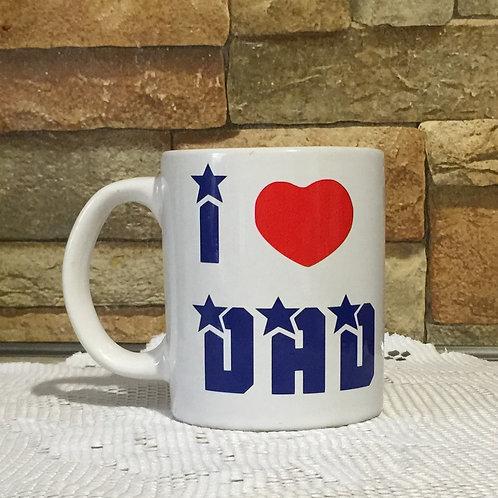 I LOVE DAD Decorated Coffee Mug