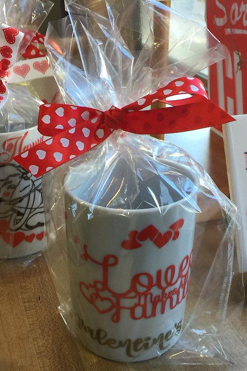 LOVE MAKES A FAMILY Decorated Coffee Mug