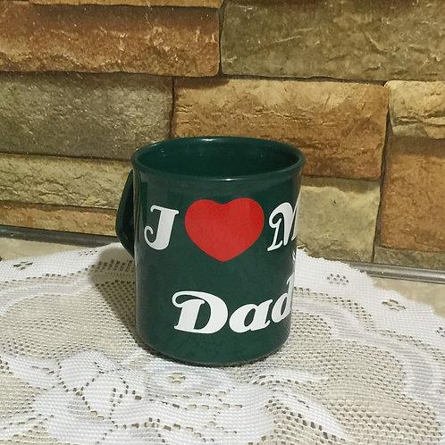 I LOVE MY DAD Decorated Coffee Mug, Gift for Dad