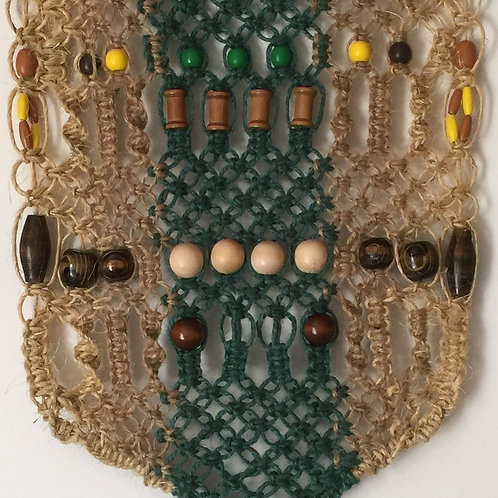 MACRAME WALL HANGING #61 natural and colored jute