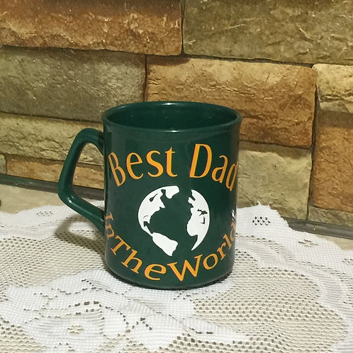 BEST DAD in the WORLD, Decorated Coffee Mug, Gift for Dad