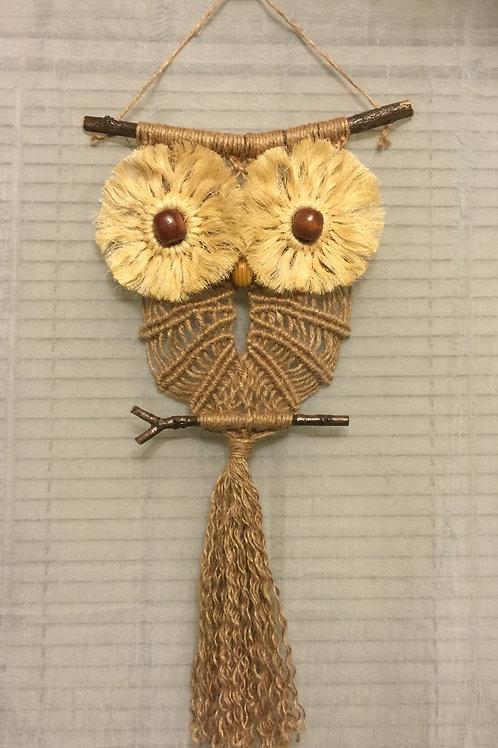 OWL 50 Macrame Wall Hanging, jute, sisal