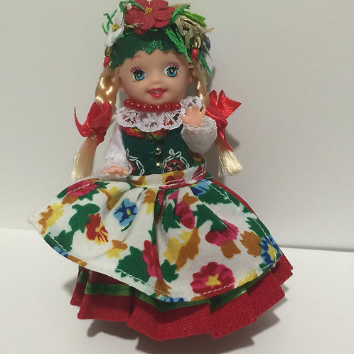 """DOLLY with Polish Folk Dress """"OPOLSKI"""""""