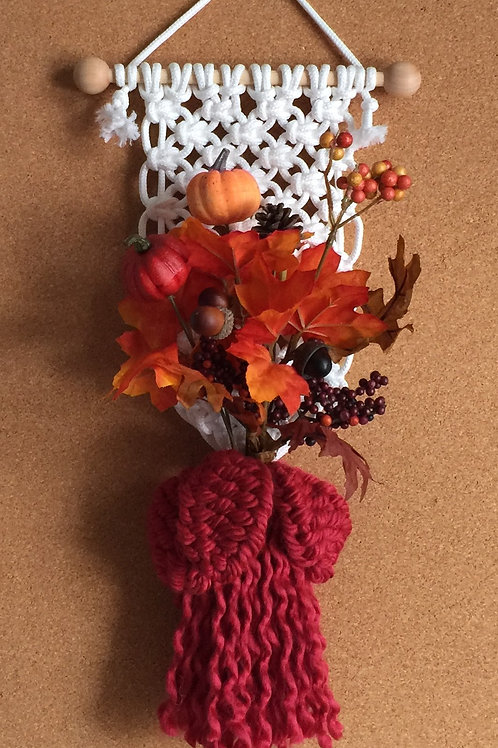 FALL BOUQUET Macrame Wall Hanging #48