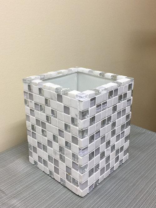 VASE (01) Mosaic Vase, Glass