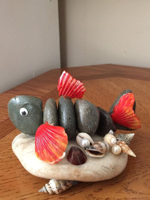 FISH (5) Stone Figurine