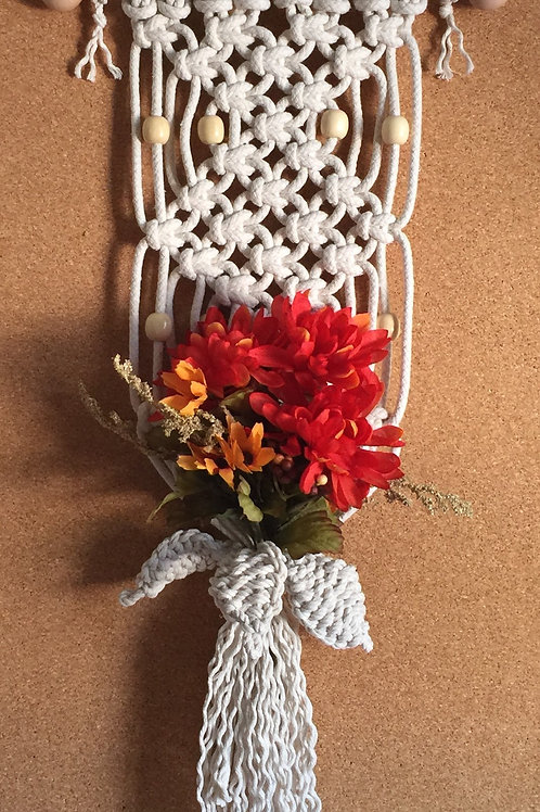 FALL FLOWERS Macrame Wall Hanging #49