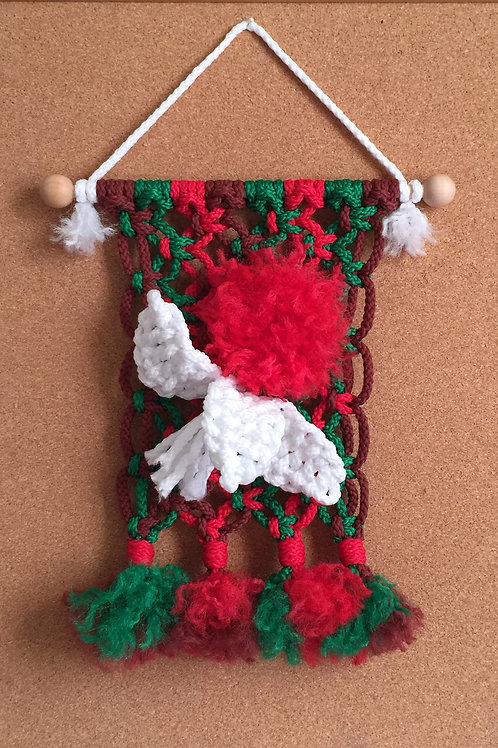 CHRISTMAS FLOWER Macrame Wall Hanging #47