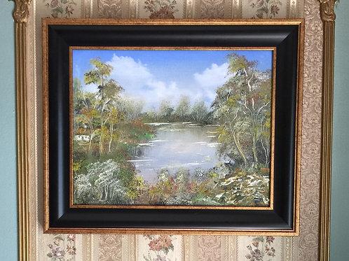 "COLORS OF AUTUMN original oil painting 11""x14"""