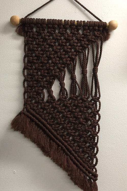 MACRAME WALL HANGING 64, Dark Brown Bonnie Craft Cord