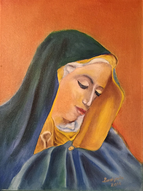 OUR LADY 2 original oil painting on canvas
