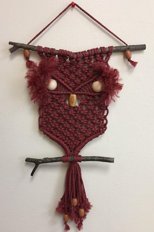 OWL #197 Macramé Wall Hanging, macramé owl