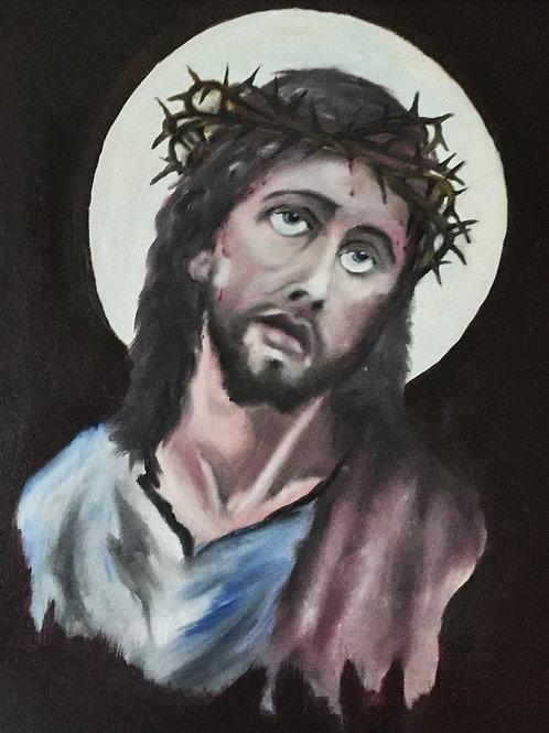 CHRIST (93) original oil painting on canvas panel