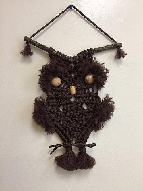 OWL #195 Macrame Wall Hanging, Macrame Owl