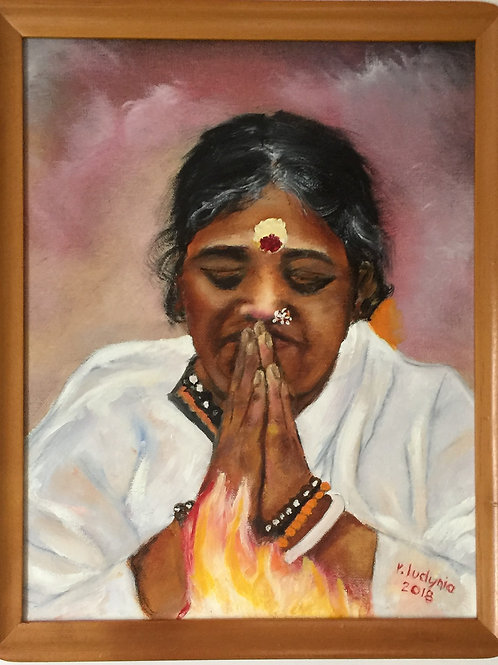 "AMMA #7 (138) original oil painting on canvas, 11""x 14"""