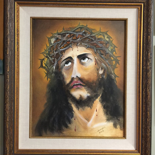 JESUS WITH THORN CROWN (27) oil painting on canvas