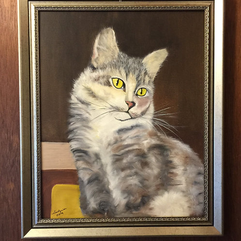LUCKY QUEEN (88) original oil painting on canvas 16X20