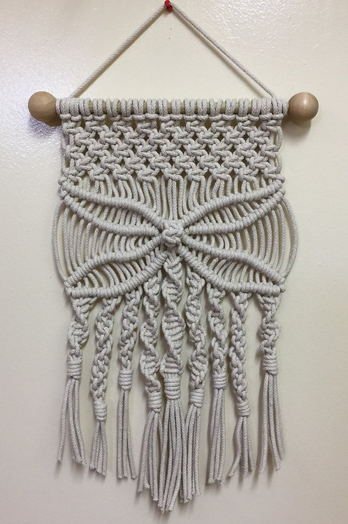 MACRAME WALL HANGING 69, Off White, cotton cord