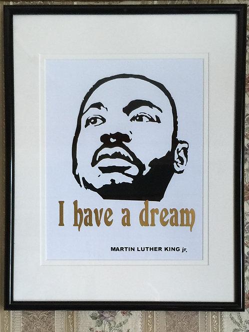 MARTIN LUTER KING vinyl portrait on paper