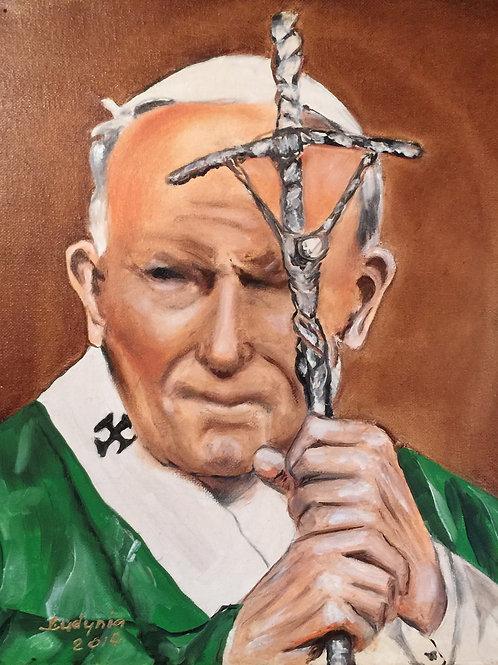POPE JOHN PAUL II original oil painting on canvas