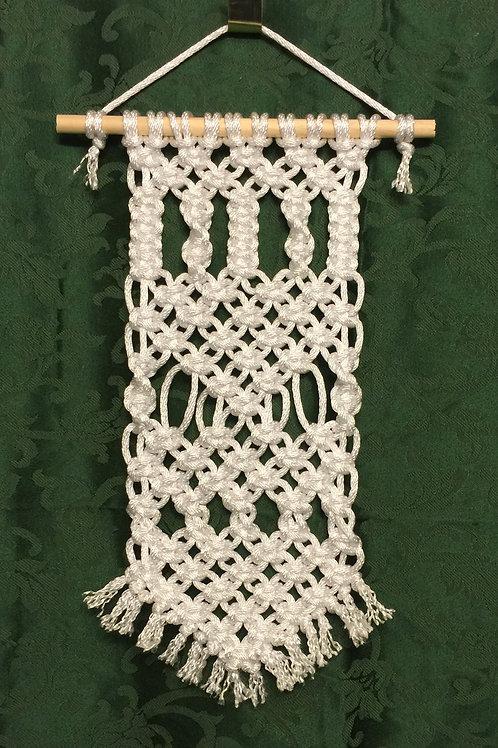MACRAME WALL HANGING 32, White, Bonnie Craft Cord