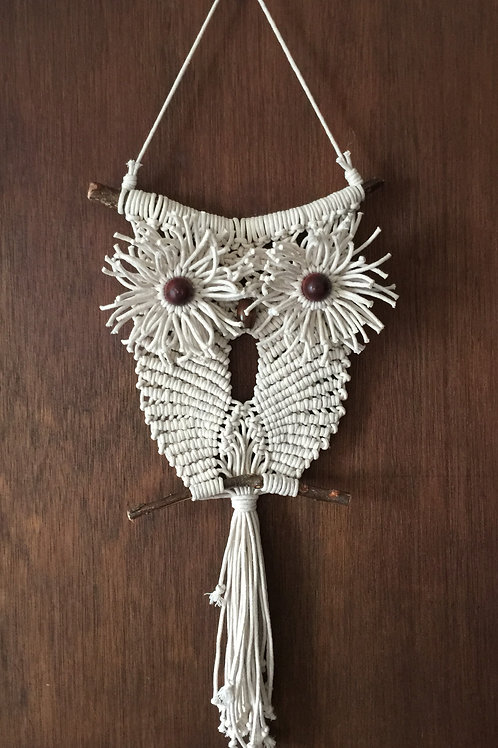 OWL#11 Macrame Wall Hanging off white, cotton