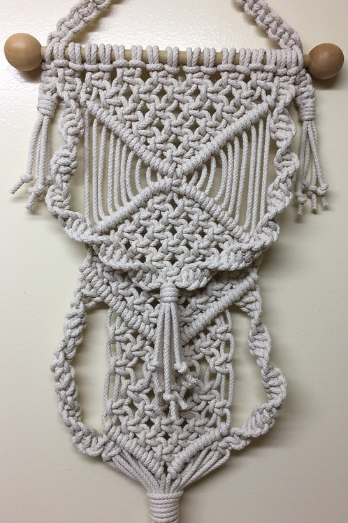 MACRAME WALL HANGING 68, Off White, cotton cord
