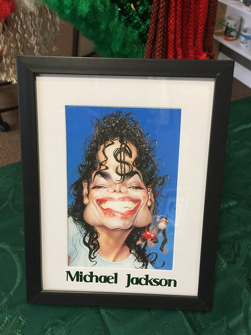 MICHAEL JACKSON Caricature Mixed Media Picture
