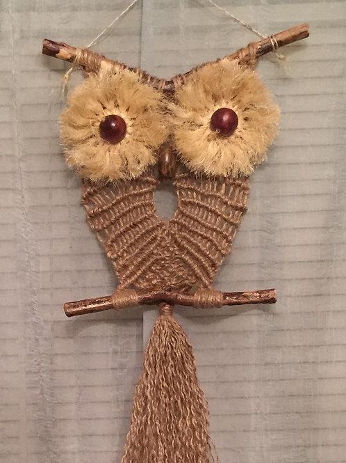 OWL #16 Macrame Wall Hanging natural, jute, sisal