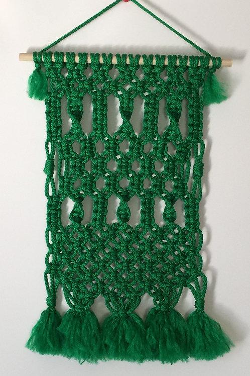 MACRAME WALL HANGING 53, Green Bonnie Craft Cord