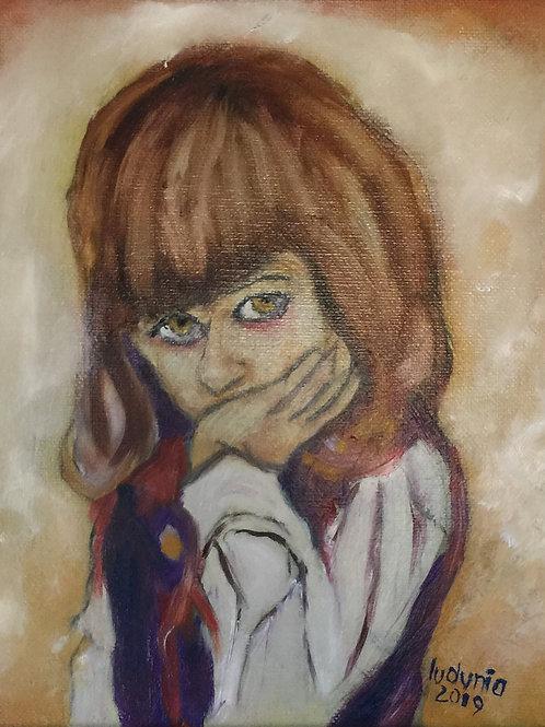 "JOZIO FELDMAN'S PORTRAIT (136) original oil painting on canvas panel 8"" x 10"""