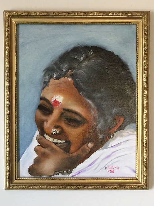 "AMMA #6 (129) original oil painting on canvas, 11""x 14"""