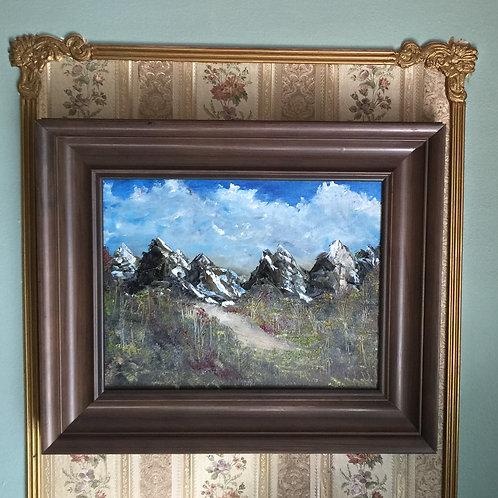 "STONE LINE (96) original oil painting 11""x14"","