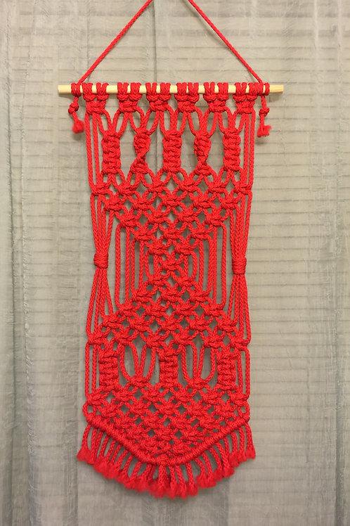 MACRAME WALL HANGING 8, Red, Macrame Decoration