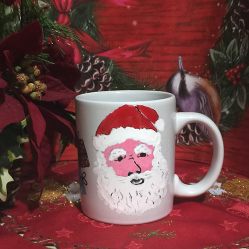 SANTA CLAUS Hand-painted Coffee Mug