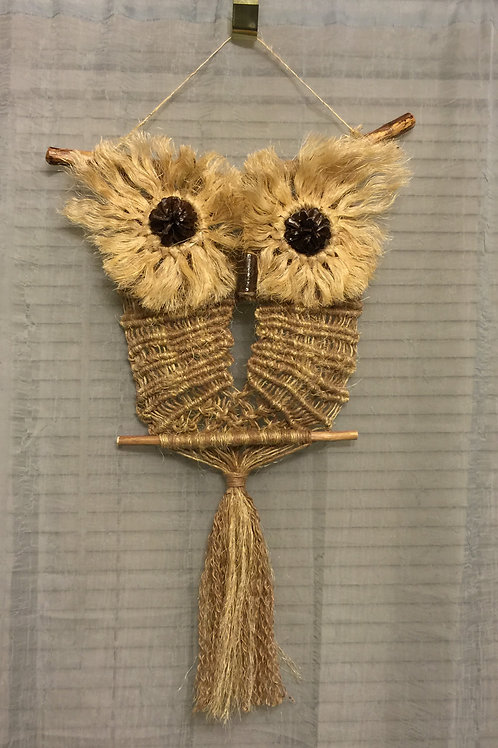 OWL #20 Macrame Wall Hanging natural, jute, sisal