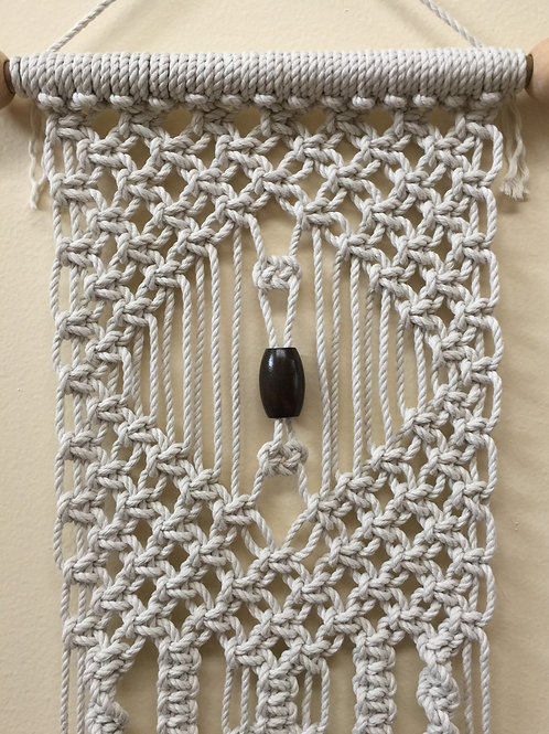 MACRAME WALL HANGING 65, Off White, cotton cord