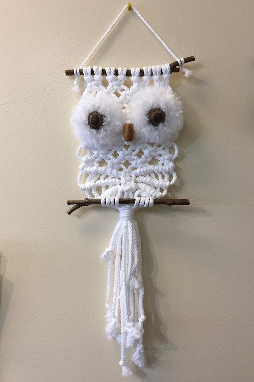 OWL #199 Macramé Wall Hanging, Macramé Owl