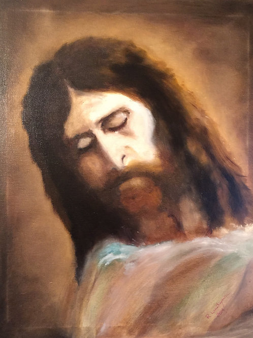 JESUS CHRISToriginal oil painting on canvas 16x20