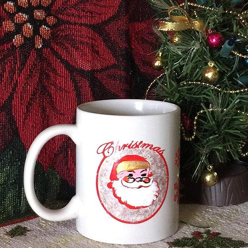 SANTA & STARS Hand-decorated Coffee Mug