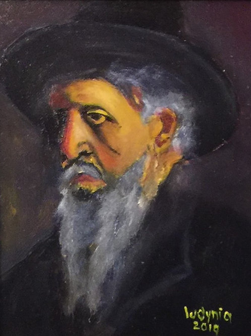 """MAN IN A HAT (132) original oil painting on canvas panel 8"""" x 10"""", framed"""