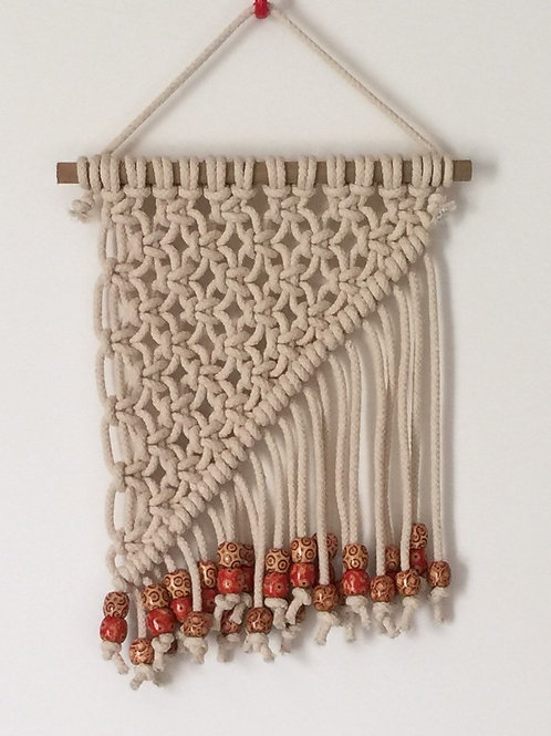 MACRAME WALL HANGING 57, Off White, cotton cord