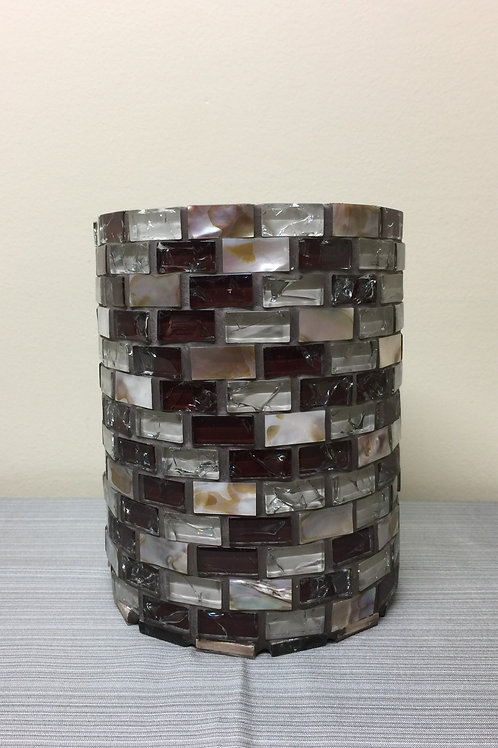 VASE (04) Mosaic Vase, Glass,