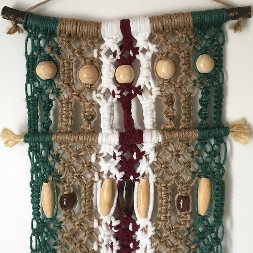 MACRAME WALL HANGING #60 natural and colored jute